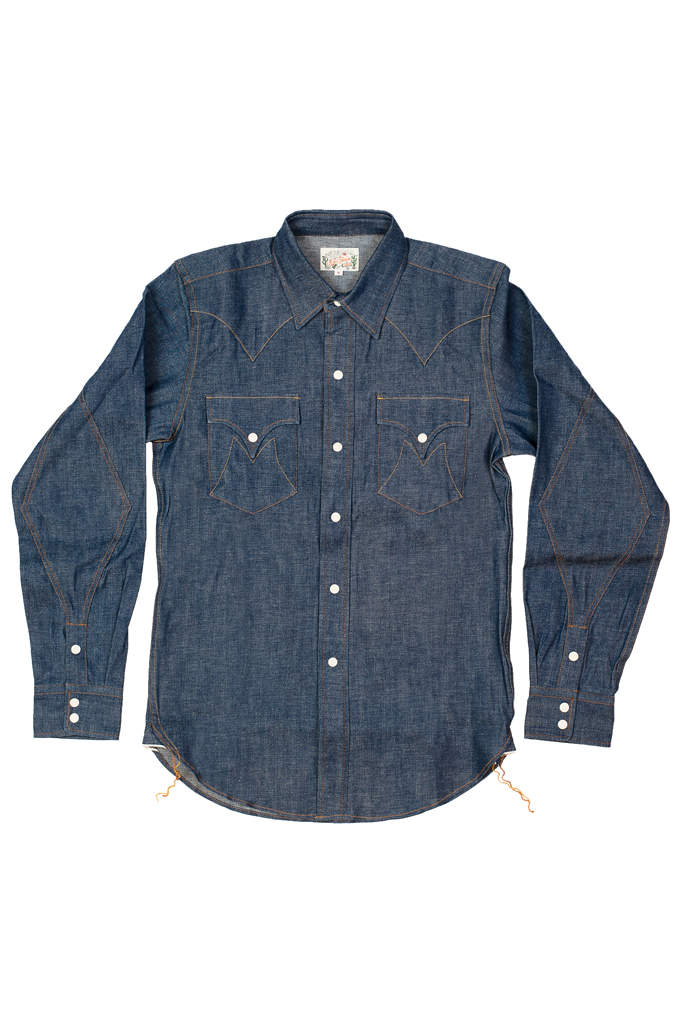 Mister Freedom Dude Rancher Shirt - 101 Indigo Denim - Image 0