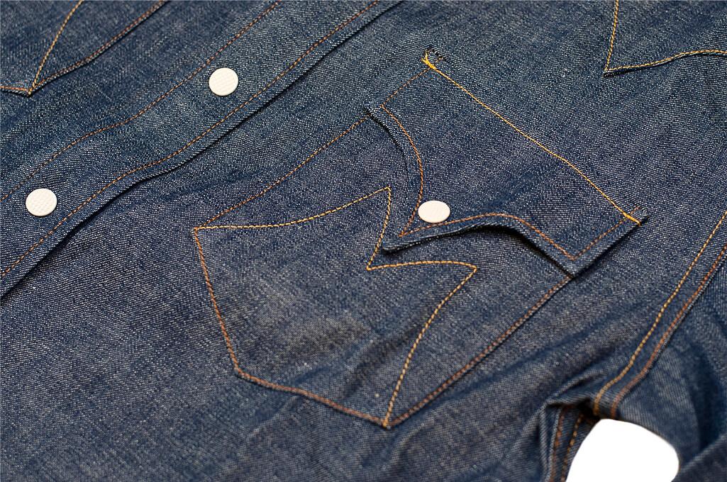 Mister Freedom Dude Rancher Shirt - 101 Indigo Denim - Image 2