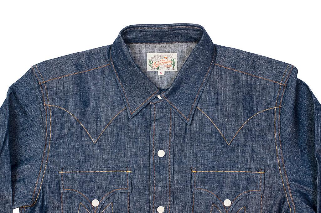 Mister Freedom Dude Rancher Shirt - 101 Indigo Denim - Image 5