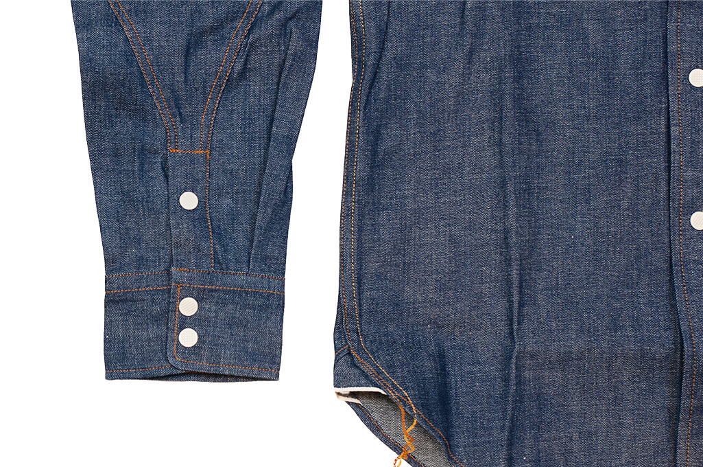 Mister Freedom Dude Rancher Shirt - 101 Indigo Denim - Image 8