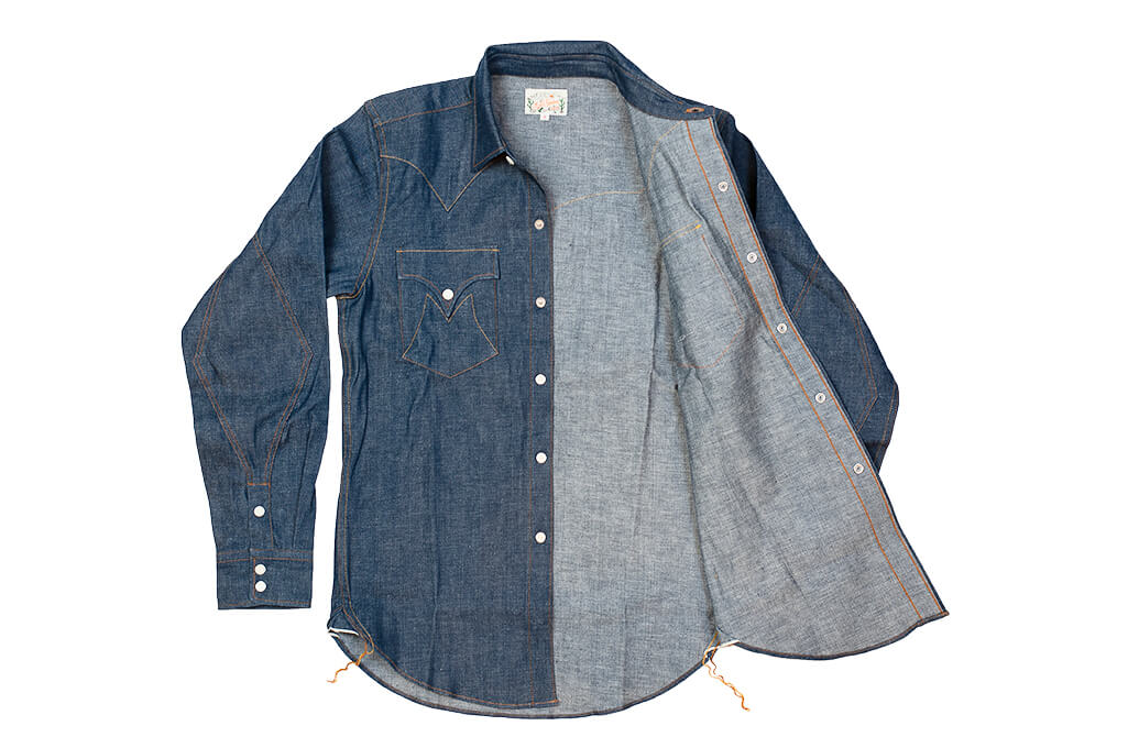 Mister Freedom Dude Rancher Shirt - 101 Indigo Denim - Image 12