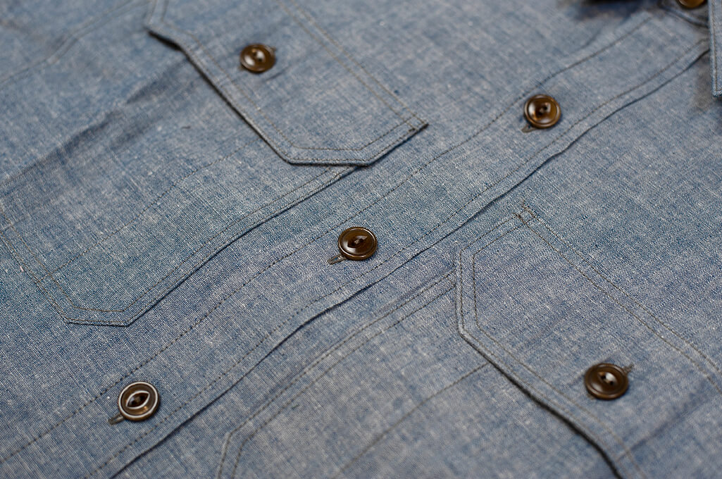 Mister Freedom M37 Snipes Shirt - Chambray - Image 2