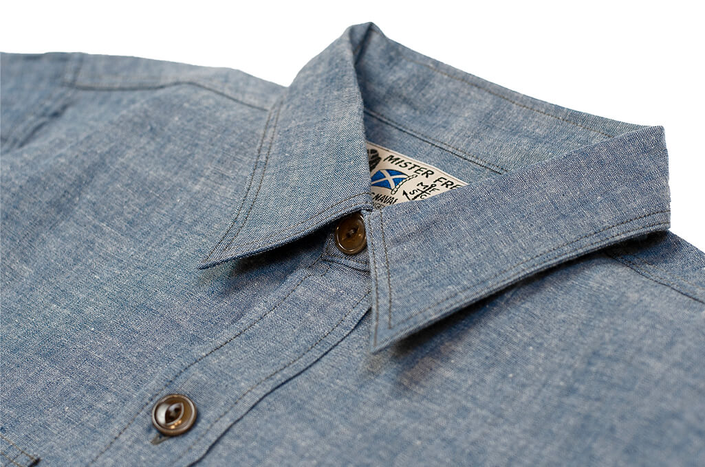 Mister Freedom M37 Snipes Shirt - Chambray - Image 3