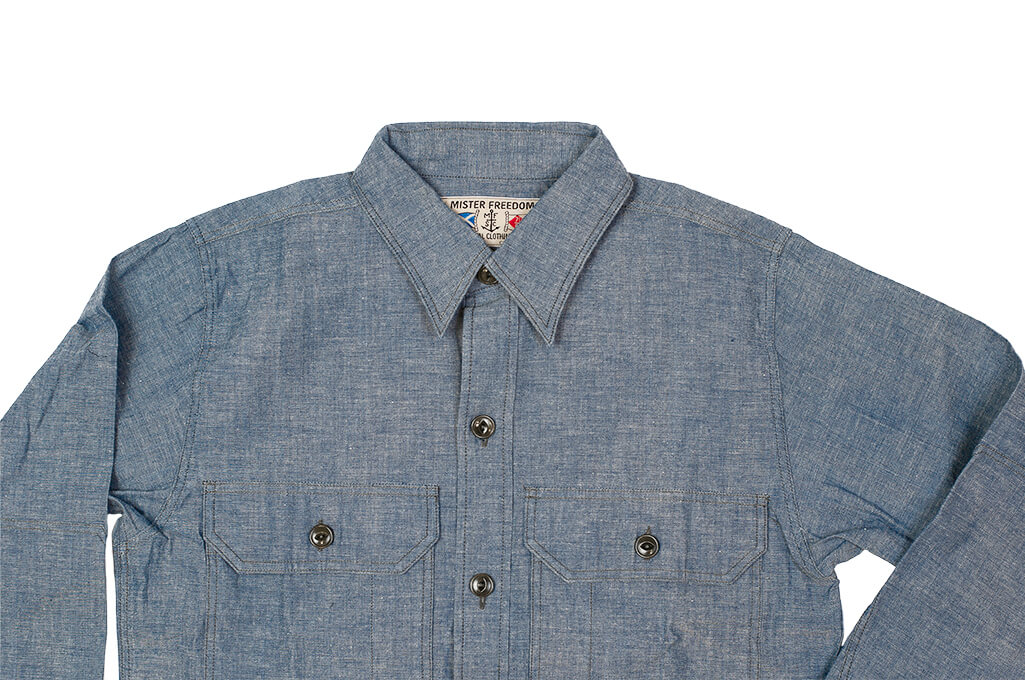 Mister Freedom M37 Snipes Shirt - Chambray - Image 8