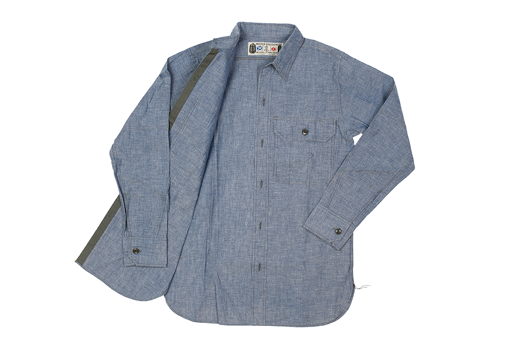 Mister Freedom M37 Snipes Shirt - Chambray - Image 11