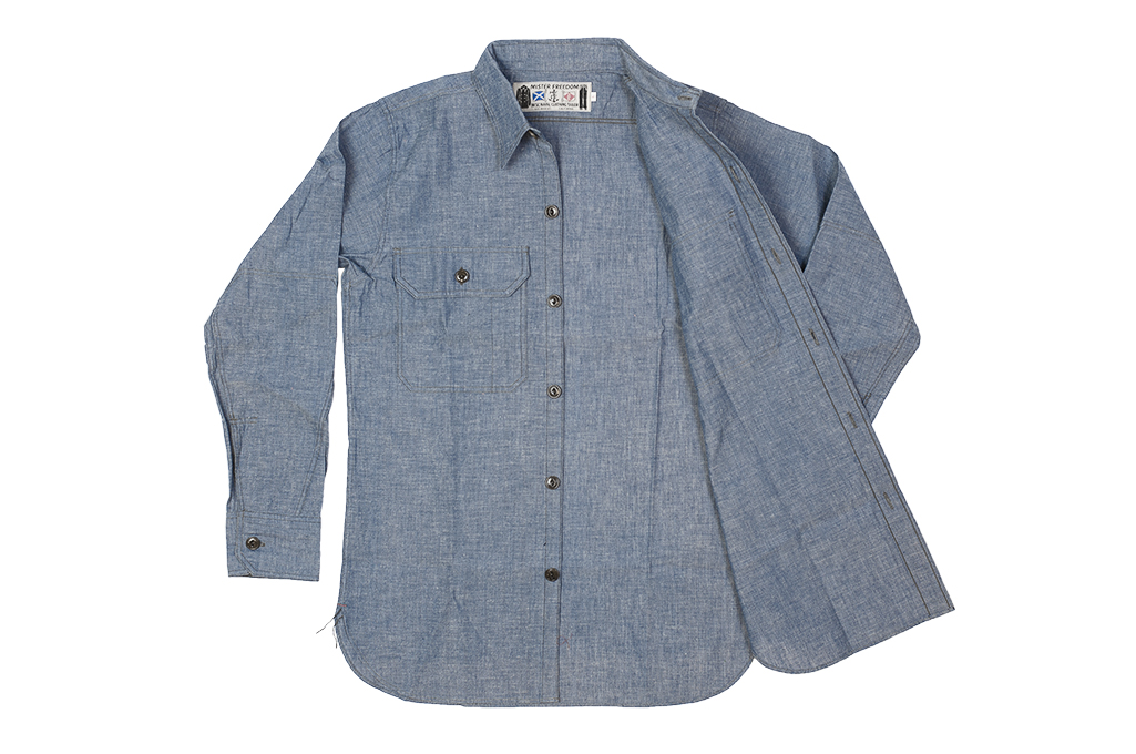 Mister Freedom M37 Snipes Shirt - Chambray - Image 13