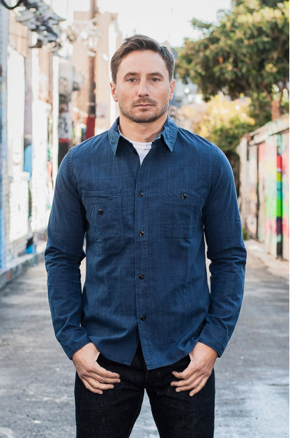 Pure Blue Japan Workshirt - Double Natural Indigo