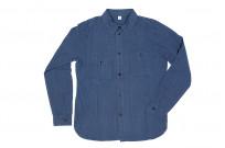 Pure Blue Japan Workshirt - Double Natural Indigo - Image 5