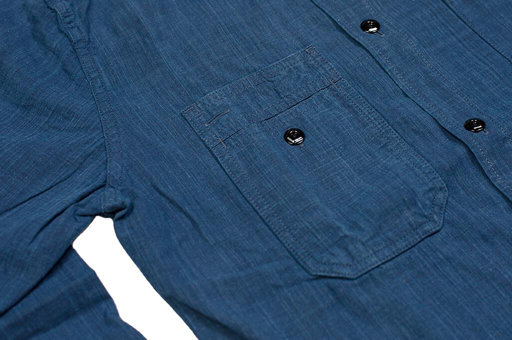 Pure Blue Japan Workshirt - Double Natural Indigo - Image 7