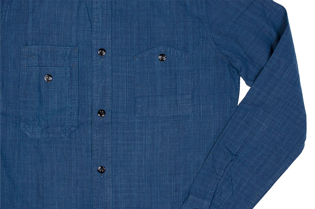 Pure Blue Japan Workshirt - Double Natural Indigo - Image 9