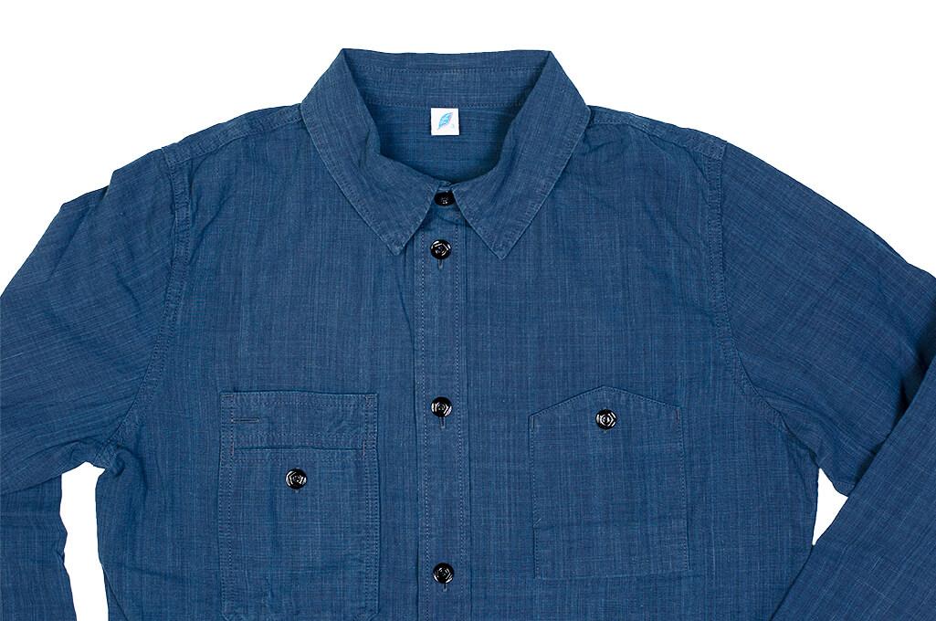 Pure Blue Japan Workshirt - Double Natural Indigo - Image 10