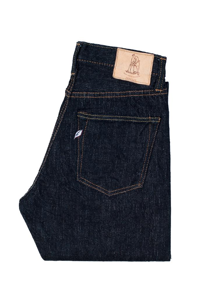 Pure Blue Japan XX-019 Indigo Jeans - 14oz Straight Tapered - Image 4