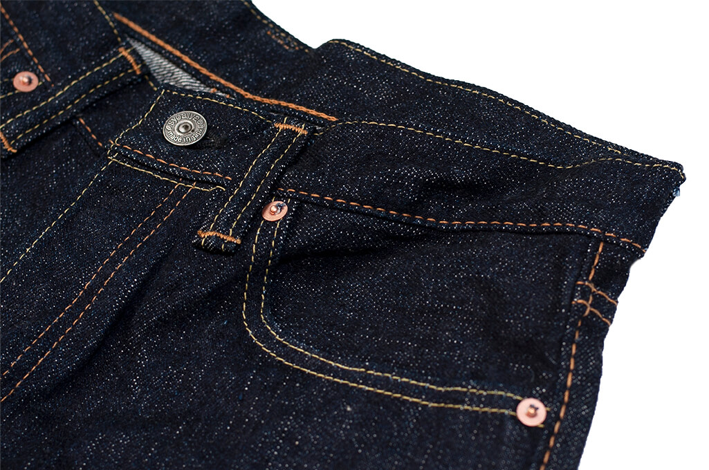 Pure Blue Japan XX-019 Indigo Jeans - 14oz Straight Tapered - Image 8
