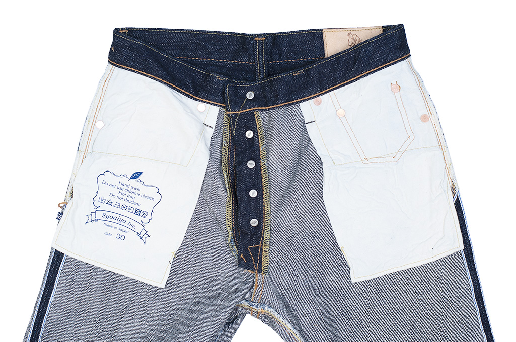 Pure Blue Japan XX-019 Indigo Jeans - 14oz Straight Tapered - Image 19