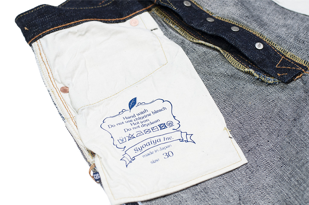 Pure Blue Japan XX-019 Indigo Jeans - 14oz Straight Tapered - Image 22