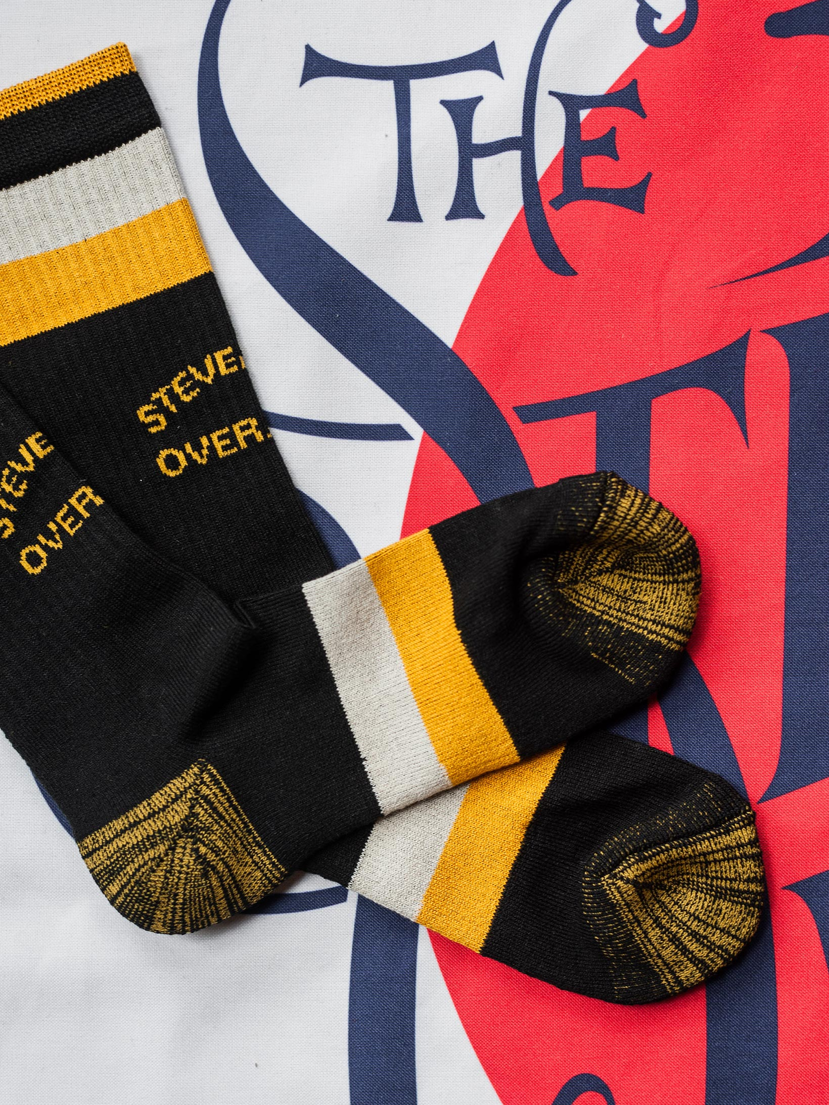 Stevenson Branded Solid Socks - Black - Image 7