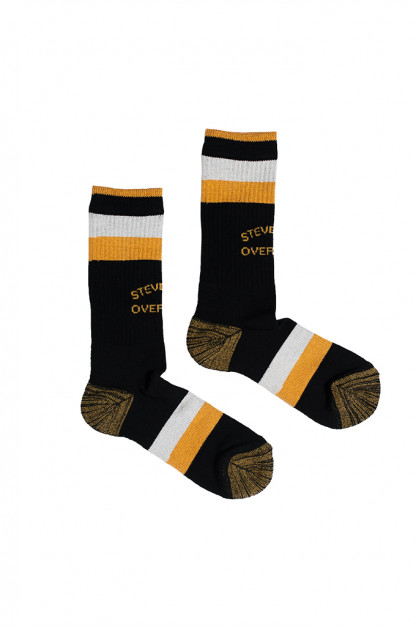 Stevenson Branded Solid Socks - Black