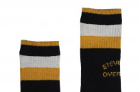 Stevenson Branded Solid Socks - Black - Image 2