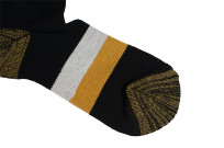Stevenson Branded Solid Socks - Black - Image 4