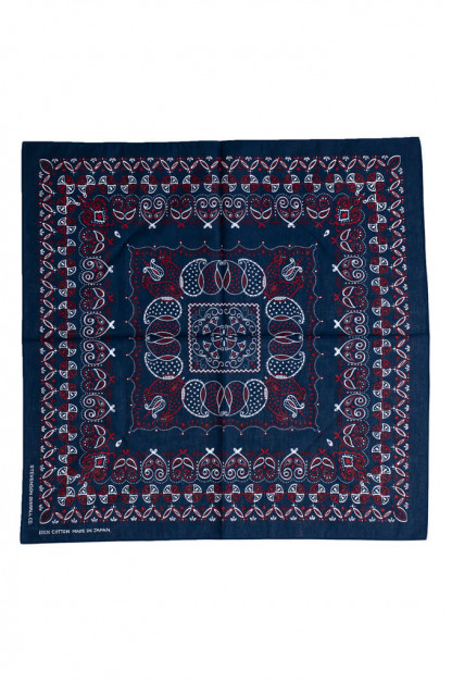 Stevenson Cotton Bandana - Navy/Red