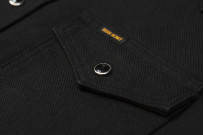 Iron Heart 13oz Military Serge Snap Shirt - Black - Image 8