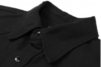 Iron Heart 13oz Military Serge Snap Shirt - Black - Image 9