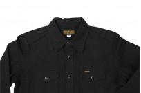 Iron Heart 13oz Military Serge Snap Shirt - Black - Image 12