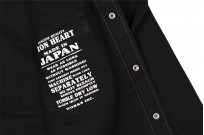 Iron Heart 13oz Military Serge Snap Shirt - Black - Image 16