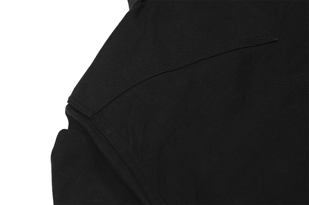 Iron Heart 13oz Military Serge Snap Shirt - Black - Image 18