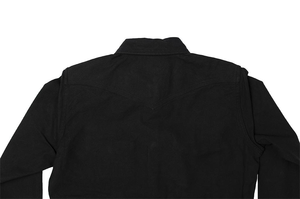 Iron Heart 13oz Military Serge Snap Shirt - Black - Image 19