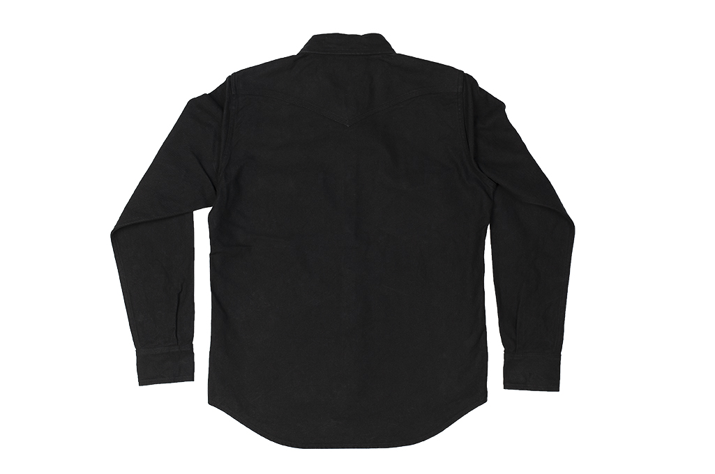 Iron Heart 13oz Military Serge Snap Shirt - Black - Image 20