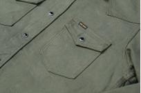 Iron Heart 13oz Military Serge Snap Shirt - Olive - Image 2