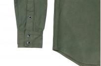 Iron Heart 13oz Military Serge Snap Shirt - Olive - Image 6