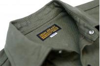 Iron Heart 13oz Military Serge Snap Shirt - Olive - Image 8