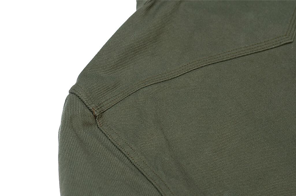 Iron Heart 13oz Military Serge Snap Shirt - Olive - Image 15