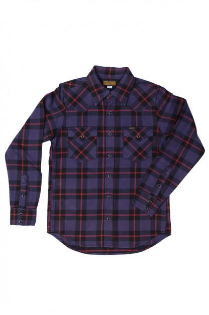 Iron Heart Ultra-Heavy Flannel - Tartan Check Purple