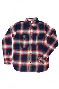 Pure Blue Japan Flannel Shirt - Indigo Shaggy Check - Image 0