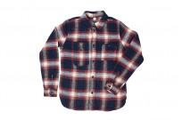 Pure Blue Japan Flannel Shirt - Indigo Shaggy Check - Image 1