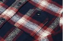 Pure Blue Japan Flannel Shirt - Indigo Shaggy Check - Image 2