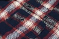 Pure Blue Japan Flannel Shirt - Indigo Shaggy Check - Image 3