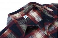 Pure Blue Japan Flannel Shirt - Indigo Shaggy Check - Image 4
