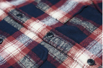 Pure Blue Japan Flannel Shirt - Indigo Shaggy Check - Image 5