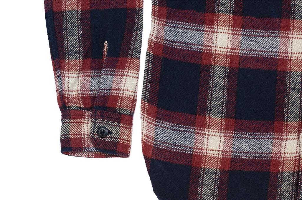 Pure Blue Japan Flannel Shirt - Indigo Shaggy Check - Image 6