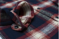 Pure Blue Japan Flannel Shirt - Indigo Shaggy Check - Image 7