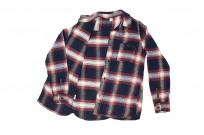 Pure Blue Japan Flannel Shirt - Indigo Shaggy Check - Image 8