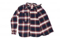 Pure Blue Japan Flannel Shirt - Indigo Shaggy Check - Image 9