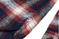 Pure Blue Japan Flannel Shirt - Indigo Shaggy Check - Image 10