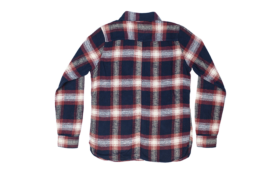 Pure Blue Japan Flannel Shirt - Indigo Shaggy Check - Image 12