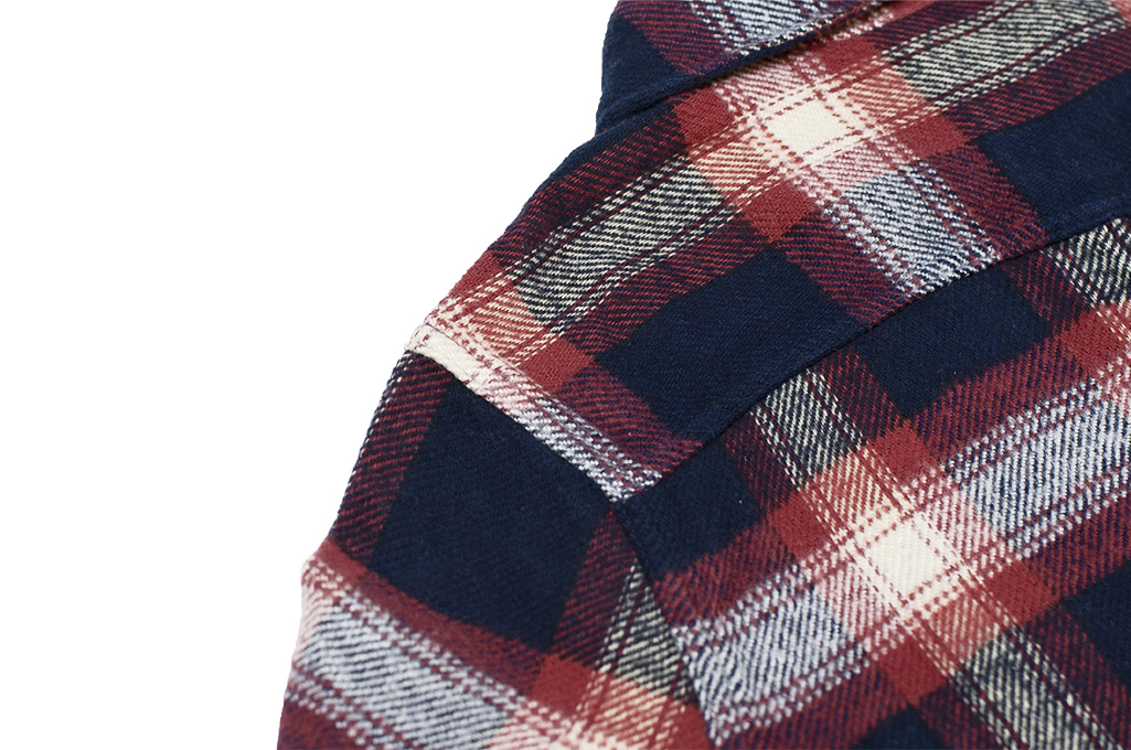 Pure Blue Japan Flannel Shirt - Indigo Shaggy Check - Image 13