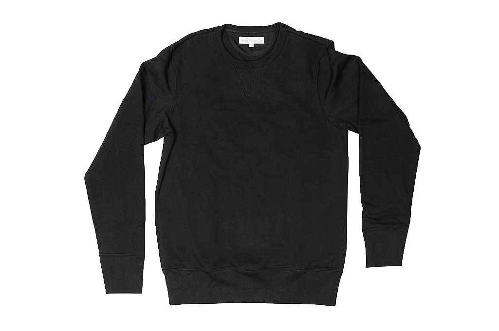 Merz B. Schwanen Heavy Weight Crewneck Sweater - Deep Black - Image 3